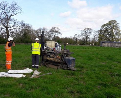 Sample rig in greenfield site