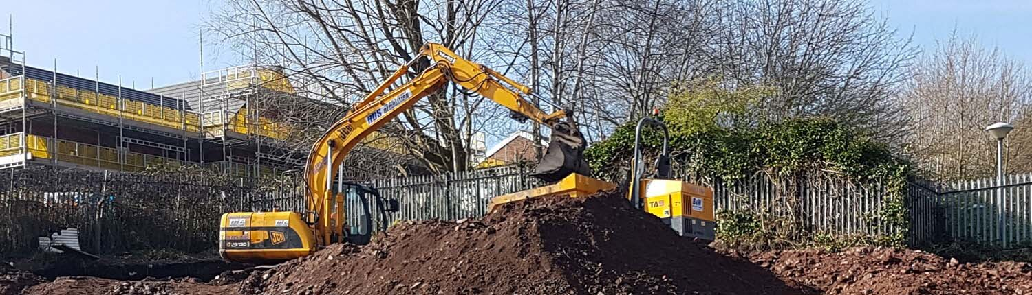 Digging with JCB for Geotechnical Studies