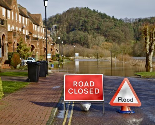flood risk assessment flooded road