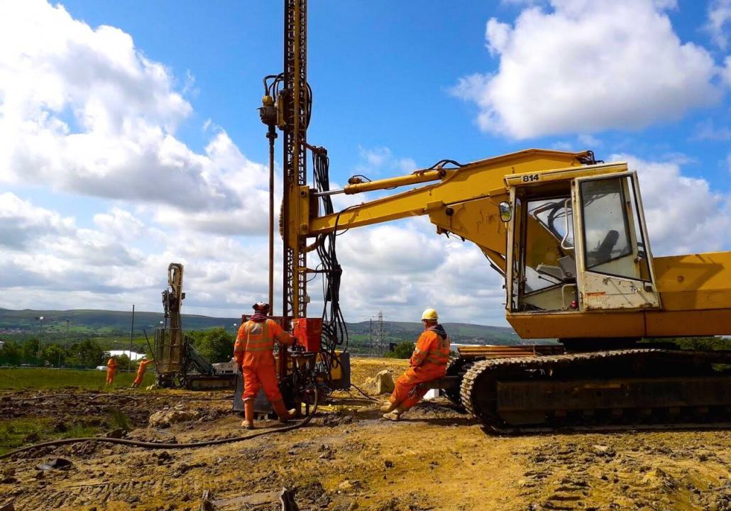 Drilling and treatment of abandoned shallow coal mineworkings on a site in Burnley