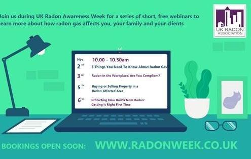 2nd November 2020 - Radon Awareness Week