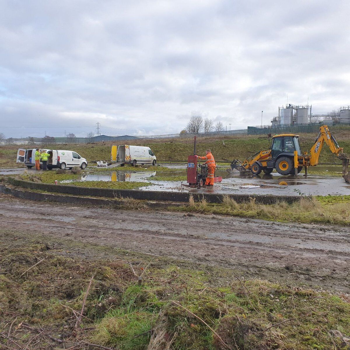 First day of large site investigation on part of former Darwen Paper Mill